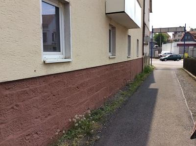 Zufahrtsweg zum Lagerraum von der Leipziger Straße aus