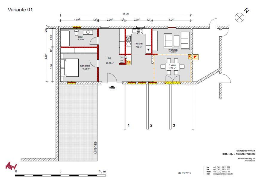Grundriss zur möglichen Nutzung als Wohnung
